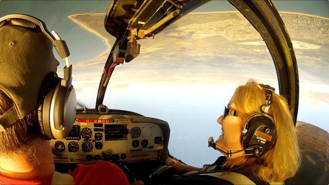 Aerobatics with my crazy Aunty!